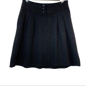 Banana Republic Black Mini Skirt Three Button